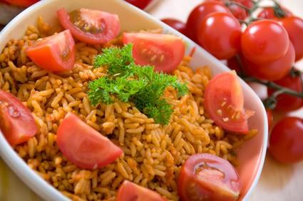 Rezept für Tomatenreis mit Parmaschinken